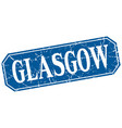 glasgow blue square grunge retro style sign vector image vector image