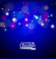 glowing colorful christmas lights for xmas holiday vector image vector image