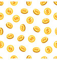 gold coins seamless pattern vector image