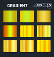 gold gradient set vector image