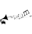 gramophone and melody vector image vector image