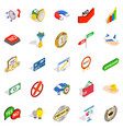Guide icons set isometric style