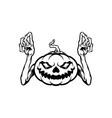 halloween character jack o lantern silhouette vector image vector image