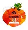 Halloween watercolor effect vector image