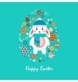 Happy easter 10 vector image vector image