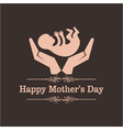Happy mothers day greeting with caring concept vector image