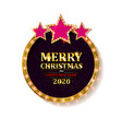 happy new year 2020 and merry christmas vector image vector image