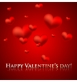 happy valentines day holiday background with red vector image vector image