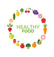 healthy food concept diet and organic food vector image