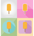 ice cream flat icons 15 vector image vector image