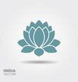 lotus flower flat icon vector image vector image