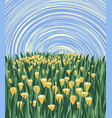 meadow with flowers and sky vector image vector image