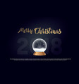 merry christmas snow globe ball new year chrismas vector image