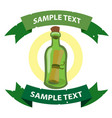 message in a bottle on the pirate theme with vector image vector image