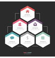 Modern hexagon infographic for 6 step vector image
