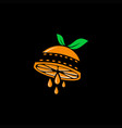 orange film logo vector image vector image