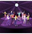 People dancing in nightclub Dance floor flat vector image vector image