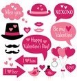 photo booth props for valentines day vector image vector image