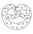 Pretzel icon outline style vector image vector image