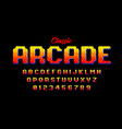 retro style arcade games font 80s video game vector image vector image