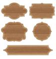 Retro Wooden Frames vector image vector image