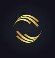 Round shape circle gold logo