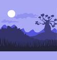 safari cartoon background desert savanna panorama vector image vector image