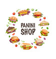 sandwiches and panini vector image