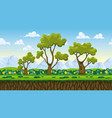 seamless nature cartoon background with separate vector image vector image
