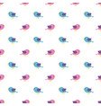 seamless pattern with blue and pink birds vector image