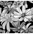 Seamless vintage black and white floral background vector image vector image