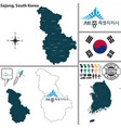 sejong special self governing city south korea vector image vector image