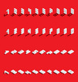 set with isometric numbers from 1 to 9 and vector image vector image