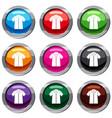 shirt polo set 9 collection vector image vector image