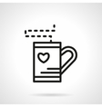 Simple line tea cup icon vector image vector image