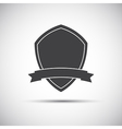 Simple shield icon flat style vector image vector image