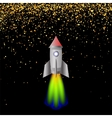 Space Rocket Launching Spacectaft vector image vector image
