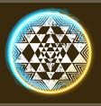 sri yantra glowing symbol vector image vector image