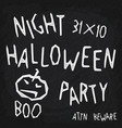stylized halloween party poster vector image vector image