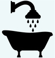symbol view bath and shower head vector image vector image
