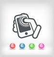 touchscreen action icon vector image
