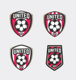united soccer football badge logo vector image