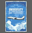 university air sea and earth transport vector image vector image
