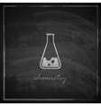 vintage with laboratory equipment icon on vector image vector image