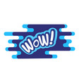 wow icon pop art style vector image