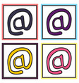 set of outline email icon isolated on background vector image