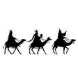 the magi on the way to jesus vector image