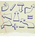 Arrows sketch vector image