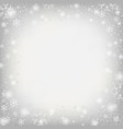 great center of snowflake in christmas festival vector image