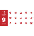 15 leader icons vector image vector image